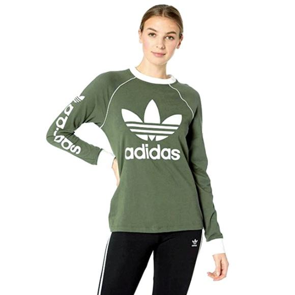 f70309052 adidas Tops | Og Originals Long Sleeve Tee Shirt Green S | Poshmark